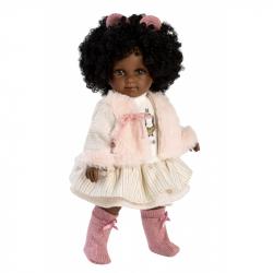 Llorens 53535 ZURI - realistická bábika s mäkkým látkovým telom - 35 cm