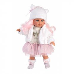 Llorens 53537 ELENA - realistická bábika s mäkkým látkovým telom - 35 cm