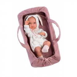 Llorens 63548 NEW BORN DIEVČATKO - realistická bábika bábätko s celovinylovým telom - 35 cm