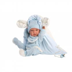 Llorens 73859 NEW BORN chlapček - realistická bábika bábätko s celovinylovým telom - 40 cm