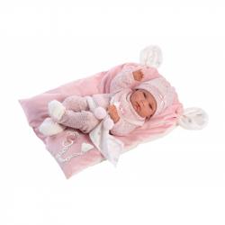 Llorens 73860 NEW BORN DIEVČATKO - realistická bábika bábätko s celovinylovým telom - 40 cm