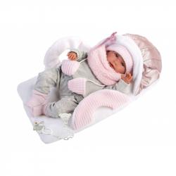 Llorens 74004 NEW BORN - realistická bábika bábätko sa zvuky a mäkkým látkovým telom - 42 cm