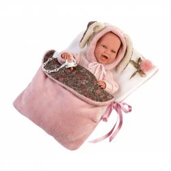 Llorens 74010 NEW BORN - realistická bábika bábätko sa zvuky a mäkkým látkovým telom - 42 cm