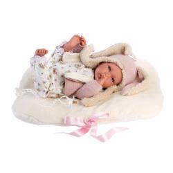 Llorens 74094 NEW BORN - realistická bábika bábätko sa zvuky a mäkkým látkovým telom - 42 cm