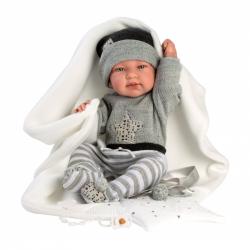 Llorens 84325 NEW BORN chlapček - realistická bábika bábätko s celovinylovým telom - 43 cm
