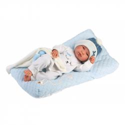 Llorens 84329 NEW BORN chlapček - realistická bábika bábätko s celovinylovým telom - 43 cm