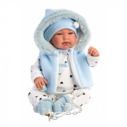 Llorens 84439 NEW BORN - realistická bábika bábätko sa zvuky a mäkkým látkovým telom - 44 cm