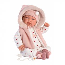 Llorens 84440 NEW BORN - realistická bábika bábätko sa zvuky a mäkkým látkovým telom - 44 cm