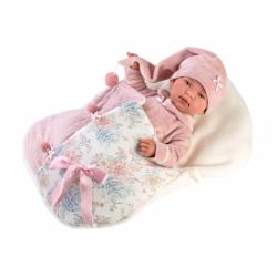 Llorens 84450 NEW BORN - realistická bábika bábätko sa zvuky a mäkkým látkovým telom - 44 cm