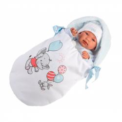 Llorens 84451 NEW BORN - realistická bábika bábätko sa zvuky a mäkkým látkovým telom - 44 cm
