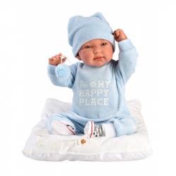 Llorens 84453 NEW BORN - realistická bábika bábätko sa zvuky a mäkkým látkovým telom - 44 cm