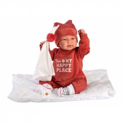 Llorens 84454 NEW BORN - realistická bábika bábätko sa zvuky a mäkkým látkovým telom - 44 cm