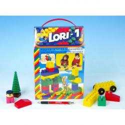 Stavebnica LORI 1 plast 50ks v krabici 19x28x10cm