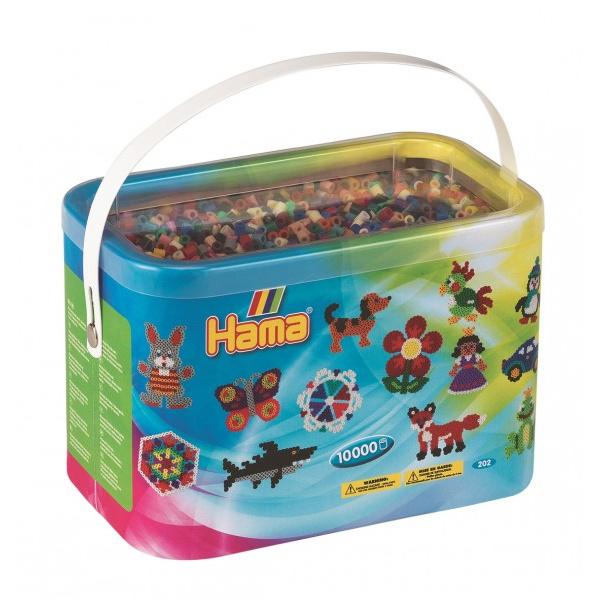 Zažehľovacie korálky Hama MIDI 10.000ks v boxe mix 22 farieb