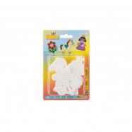 Podložka na zažehľovacie korálky - kytička, koník, princezná plast 3ks na karte 12x18x3cm