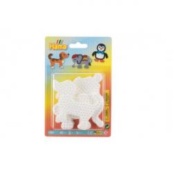 Podložka na zažehľovací korálky slon, tučniak, psík plast 3ks na karte 12x18x3cm