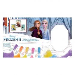 Pieskovanie obrázku Ľadové kráľovstvo II / Frozen II 3v1 v krabici 33x19x2,5cm