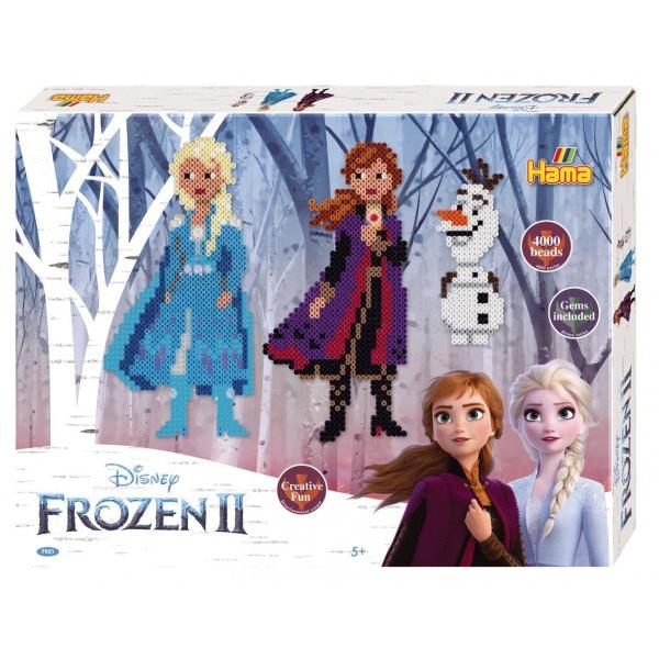 Zažehlovací korálky plast 4000ks + 2 podložky Ledové království II/Frozen II v krabici 32x25x4cm