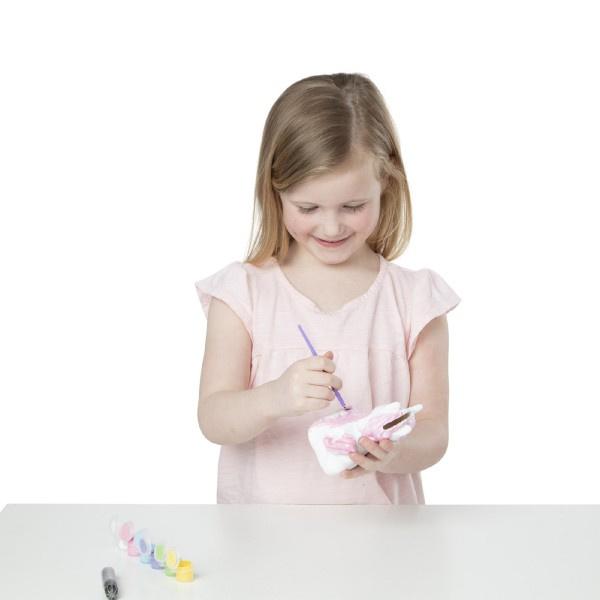 Kreatívna sada Pokladnička k vymaľovanie Jednorožec s doplnkami v krabičke 15x20x8cm