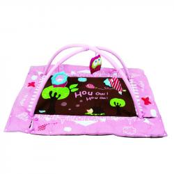 Hrací deka s mantinelem a hrazdou Sova růžová