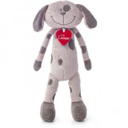 Pes Flavio šedý střední 30 cm