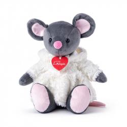 Myška Azumi šedá v bílém kožíšku