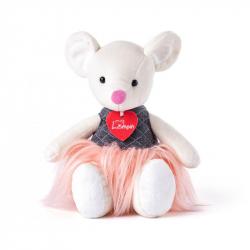 Myška Aimi bílá v trendy sukýnce
