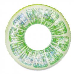 Nafukovací kruh limetka s trblietkami