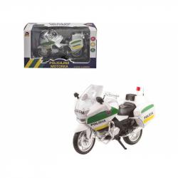 Motorka policajné kovová, 12 cm