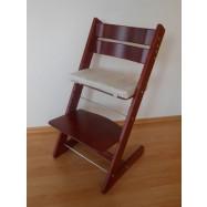 Detská rastúca stolička JITRO KLASIK mahagón