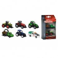 Farmářské vozidlo kovové 2 ks, 3 druhy