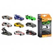 Autíčka kovová Racing 3 ks, 3 druhy
