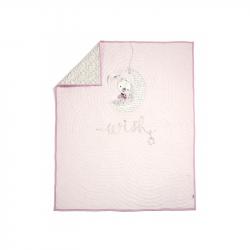 Přikrývka Millie & Boris růžová