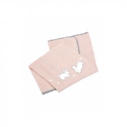 Pletená deka Králici ružová