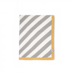 Pletená deka pruhy diagonálny
