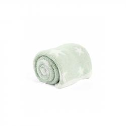 Pletená deka ženilka zelená