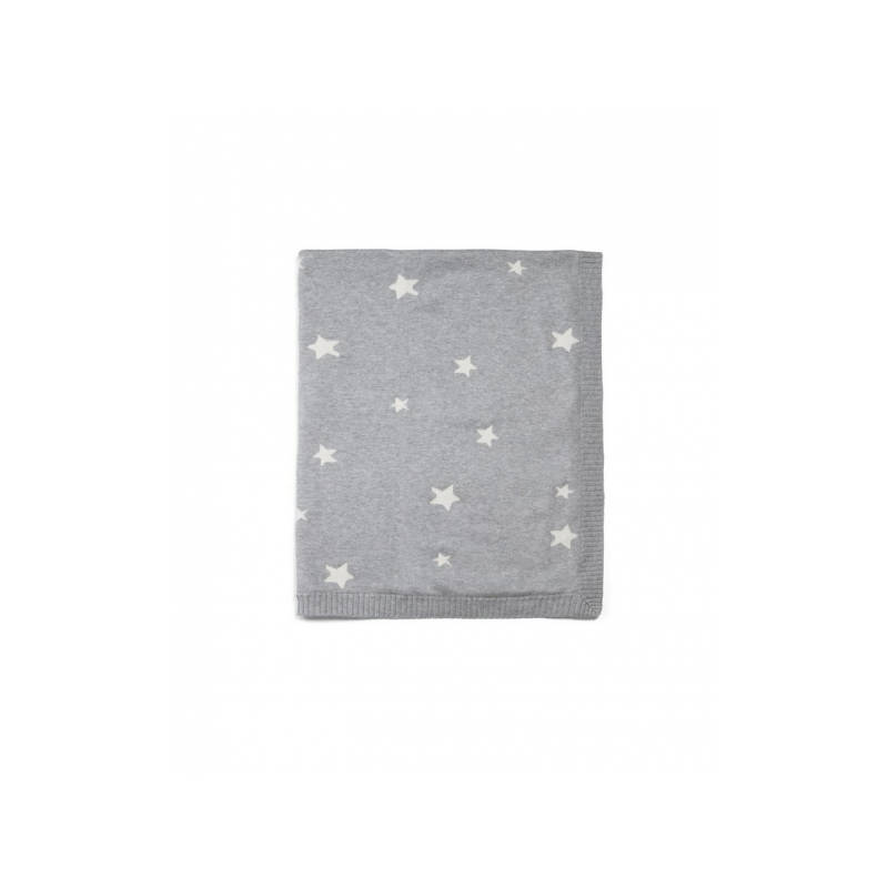Pletená deka hvězdy šedá
