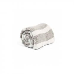 Pletená deka žinylka šedá