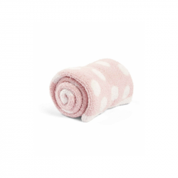 Pletená deka žinylka růžová