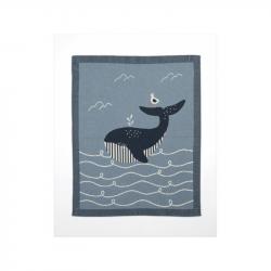 Pletená deka veľryba