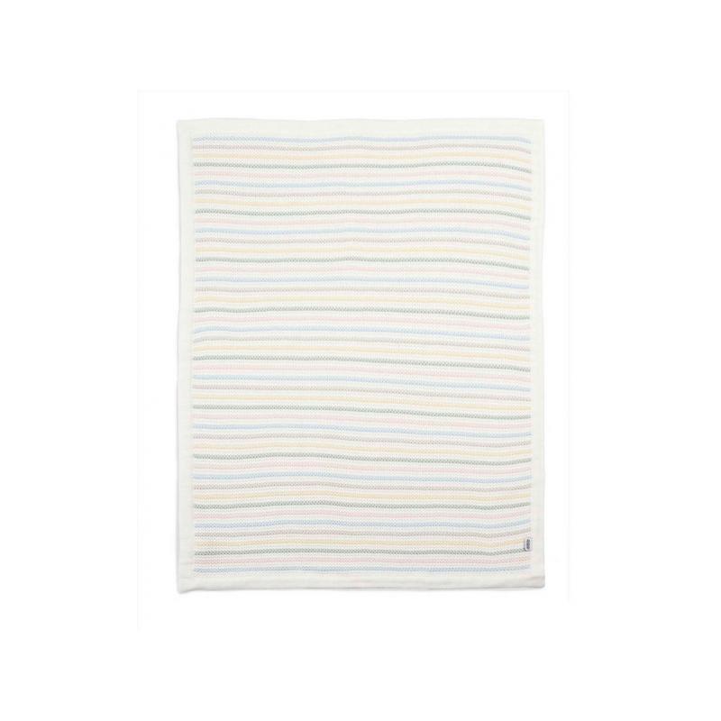 Pletená deka pastelové proužky