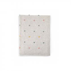 Pletená deka s  bodkami