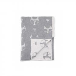 Pletená deka Lišky šedá
