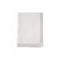 Pletená deka s kašmírom šedá