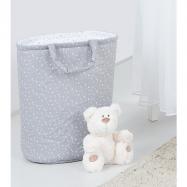 Box na hračky - oboustranný, mini hvězdičky bílé na šedém / mini hvězdičky šedé