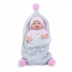 Marina & Pau 210-AP Bábika - kúpacie bábätko New Born dievčatko s fusakom - 21 cm