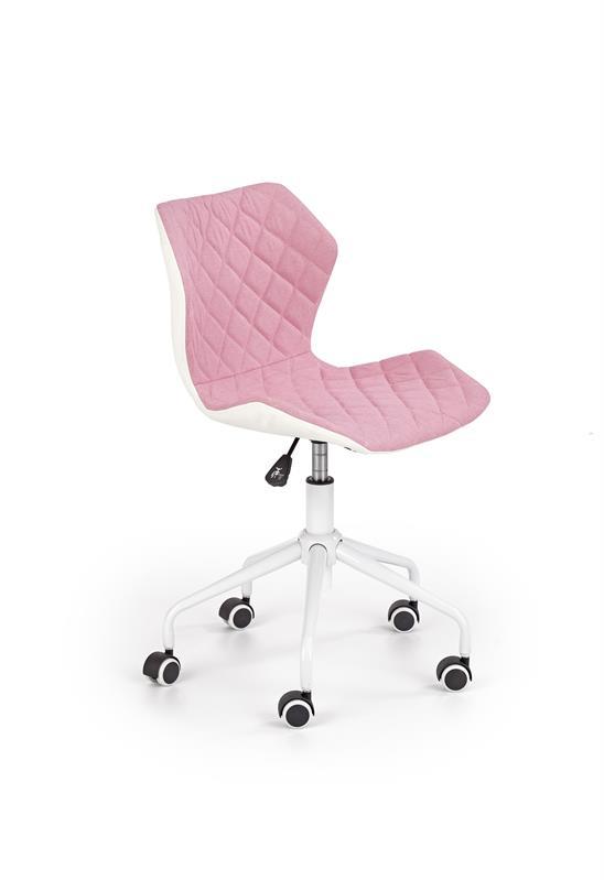 Halmar Dětská otočná židle MATRIX bílo-růžová