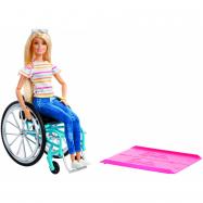 Barbie bábika na vozíčku