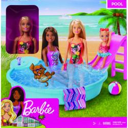 Barbie bábika a bazén