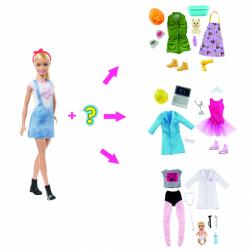 Barbie bábika a povolania s prekvapením